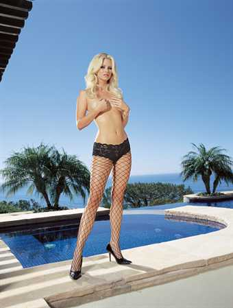 Image of   Dreamgirl Monaco Diamond Net Pantyhose Sort