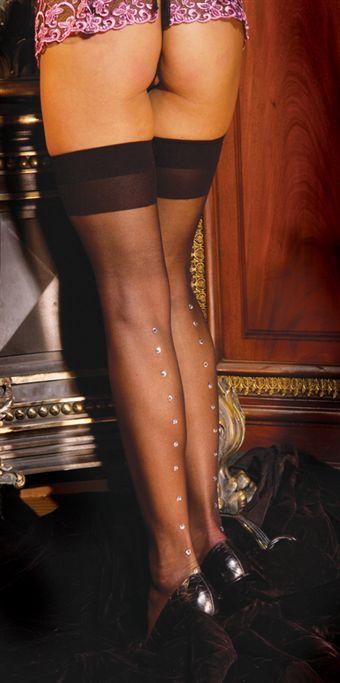 Billede af Elegant Moments Strømpe m/ smykkesten