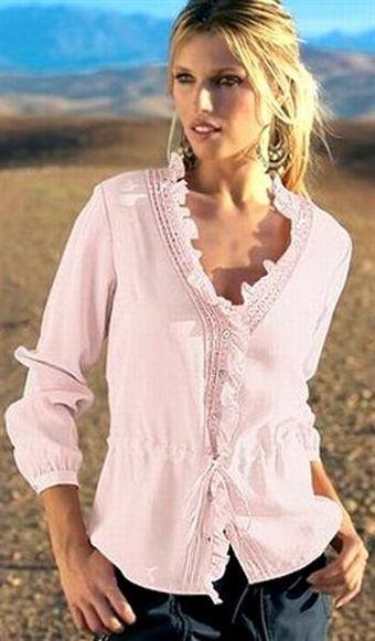 Billede af Blouse with sequines, rose