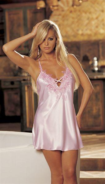 Shirley Charmeuse Chemise Pink eller Violet