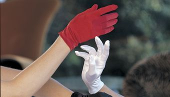 Billede af Shirley Stretch Satin Short Gloves