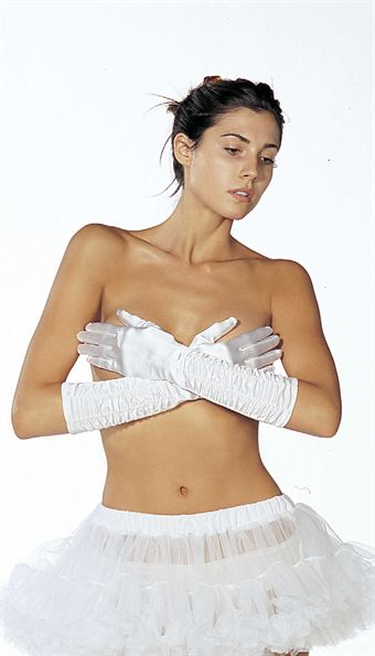 Image of   Shirley SATIN SHIRRED GLOVES