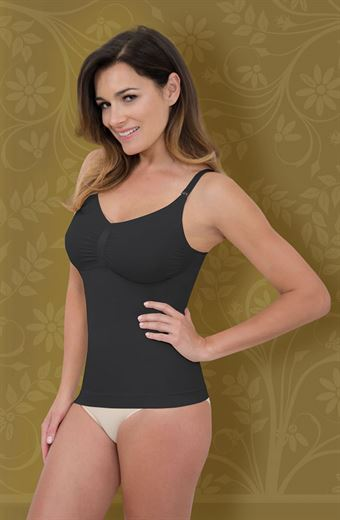 Image of   Control Body Firm Compression Camisole Sort S/M - L/XL