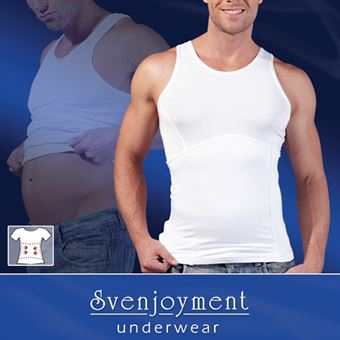 Image of   Shapewear Top Men White