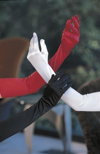 Image of   Shirley Long Satin Spandex Gloves