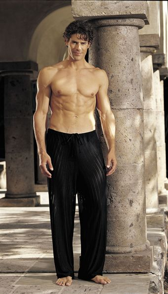 Image of   GyZ Stripe Spandex Pants Black XLarge