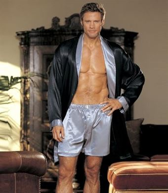 Image of   GyZ Silk Boxer Shorts Silver XL