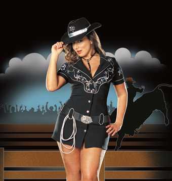 Billede af Dreamgirl Rhinestone Cowgirl Plus Size