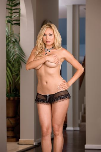 Image of   Dreamgirl - Sheer g-string with Ribbon and Lace trim Plus Size