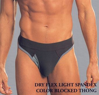 GyZ Dry Flex Light Spandex Thong Navy Small