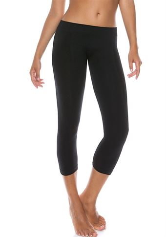Image of   Control Body 610253 3/4 Length Sports Leggings Sort S/M - L/XL