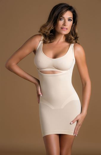 Image of   Control Body Shaping Open Bust Full Slip Hud L/XL