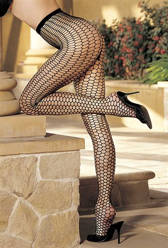 Billede af BIG HOLE HONEYCOMB PATTERNED FISHNET PANTYHOSE