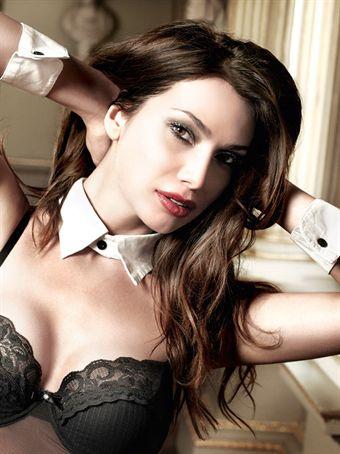 Image of   Baci Lingerie - Hvid skjortekrave med manchetter