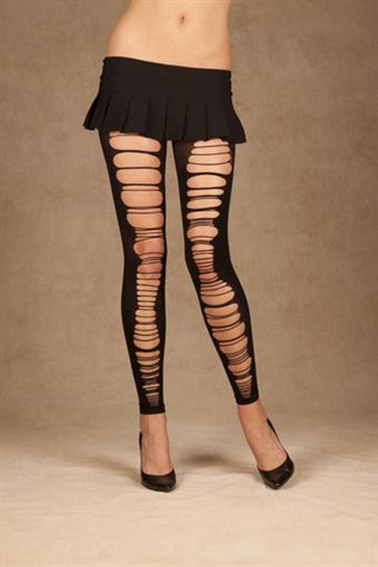 Image of   Elegant Moments Opaque leggings with rips