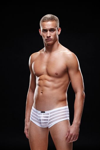 Image of   Envy Mens Wear - Microfiber Trunk White L-XL