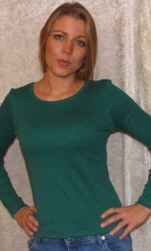 Billede af Bomulds Bluse Grøn