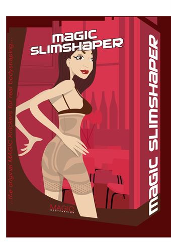 Image of   Magic Slimshaper Panties Beige, Sort L-XL