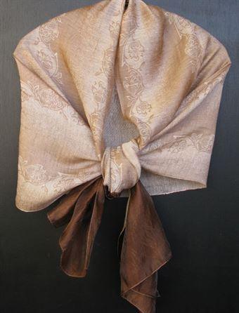 Billede af 4334 brun 100% Silke