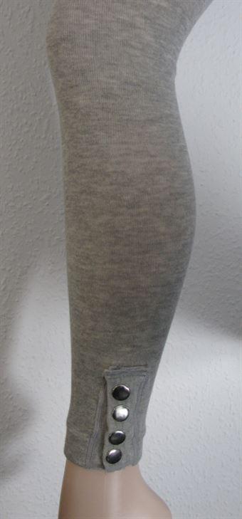 Image of   Festival Grå Legging med tryk knapper