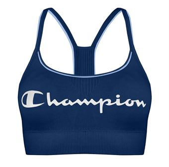 Image of   Champion Signature Crop Top Blå Large